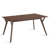 4 Seater Wood Timber Dining Table Walnut