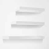 3 pcs Wall Floating Shelf Set Bookshelf Display White