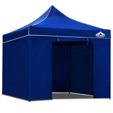 3x3 Pop Up Gazebo Hut with Sandbags Blue