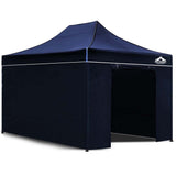 3x4.5 Pop Up Gazebo Hut with Sandbags Navy