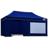 3x6 Pop Up Gazebo Hut with Sandbags Blue