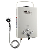 Outdoor Gas Water Heater Beige