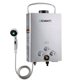 Outdoor Gas Water Heater Silver