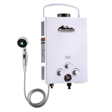 Outdoor Gas Water Heater White