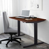 140CM-Motorised-Height-Adjustable-Sit-Stand-Desk-Walnut-HASD-BKDF-DB-WA-140
