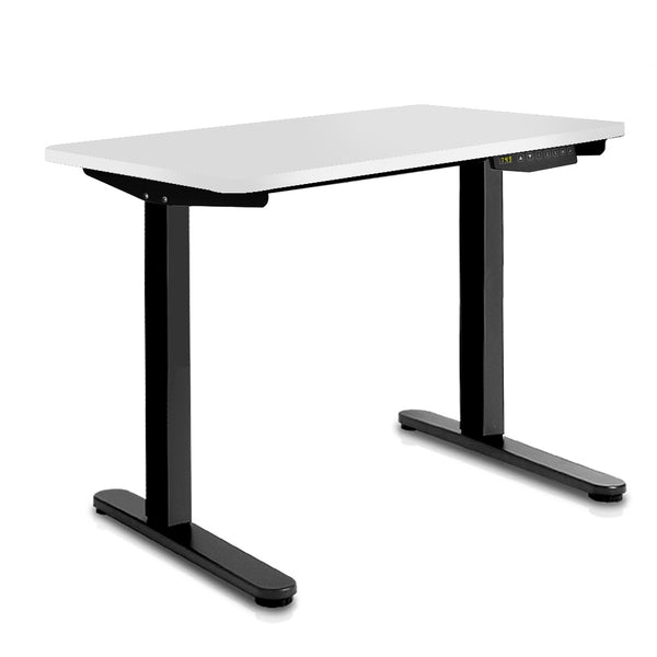 140CM Motorised Height Adjustable Sit Stand Desk White