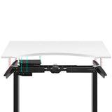 140CM Motorised Height Adjustable Desk Frame White