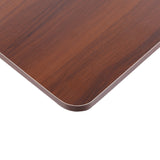 Mobile Laptop Desk Dark Wood