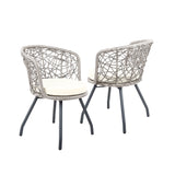 Outdoor Patio Chair and Table - Grey