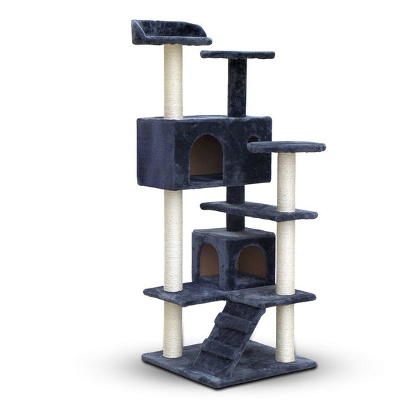 Cat Scratching Post  Tree House Condo 134cm Grey