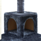 Cat-Scratching-Post--Tree-House-Condo-134cm-Grey-PET-CAT-801F-GR