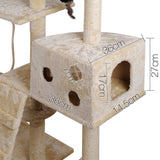 Cat Scratching Poles Post Furniture Tree 170cm Beige