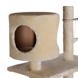 Cat-Scratching-Poles-Post-Furniture-Tree-170cm-Beige-PET-CAT-PCT051-BE
