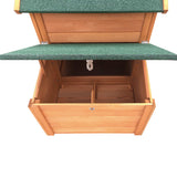 Wooden Pet Hutch with Nesting Box
