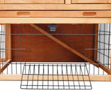 Double-Storey-Pet-Hutch-with-Under-Run-Green-PET-GT-WOOD-R1420