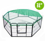 8-heavy-duty-panel-foldable-pet-playpen-31-w-cover-green-nxm-pet-pp30s-ppcv31s-gn-bitcoin-bitpay-litecoin
