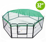 8-heavy-duty-panel-foldable-pet-playpen-32-w-cover-green-nxm-pet-pp32s-ppcv32s-gn-bitcoin-bitpay-litecoin