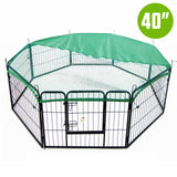 8-heavy-duty-panel-foldable-pet-playpen-40-w-cover-green-nxm-pet-pp40s-ppcv40s-gn-bitcoin-bitpay-litecoin