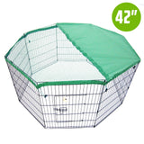 8-panel-foldable-pet-playpen-42-w-cover-green-nxm-pet-pp42-ppcv42-gn-bitcoin-bitpay-litecoin