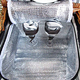 2 Person Picnic Basket Set w/ Cooler Bag Blanket
