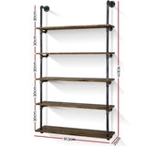 rustic-industrial-pipe-shelf-floating-storage-wall-mount-pipe-92-5lvl-wall-bitcoin-bitpay-litecoin