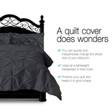King 3-piece Quilt Set Black