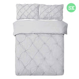 Super King 3-piece Quilt Set Grey