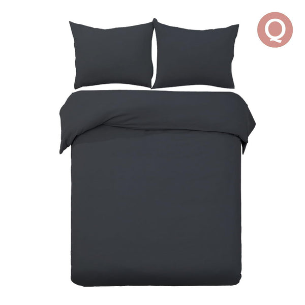 Queen 3-piece Quilt Set Black