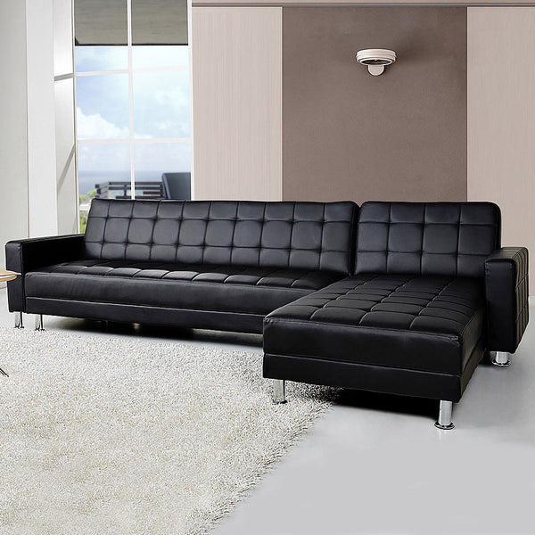 Awe Inspiring 5 Seater Pu Faux Leather Corner Sofa Bed Couch With Chaise Pdpeps Interior Chair Design Pdpepsorg