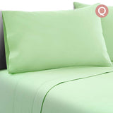 4 Piece Microfibre Sheet Set Queen – Green