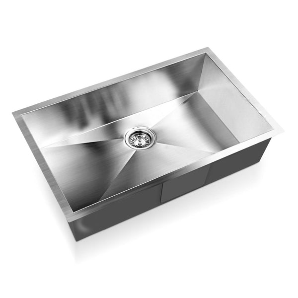 Stainless Steel Kitchen/Laundry Sink w/ Strainer Waste 700x450mm