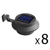 Set of 8 Solar Gutter Light - Black
