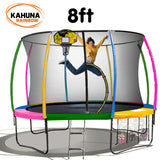 Kahuna Trampoline 8 ft with Basketball set - Rainbow