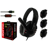 OVLENG Q7 USB Computer Headphones with Mic and Volume Control