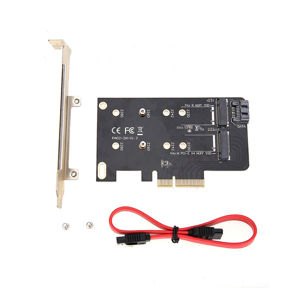 Simplecom-EC412-Dual-M.2-(B-Key-and-M-Key)-to-PCI-E-x4-and-SATA-6G-Expansion-Card-V28-EC412