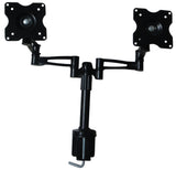 "Two-Screen 10-25"" Desk Monitor TV Plasma LED LCD Work Mount"