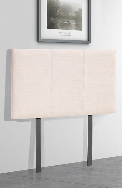 Linen Fabric Single Bed Headboard Bedhead - Beige