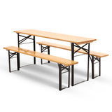 Outdoor Foldable Bench Set