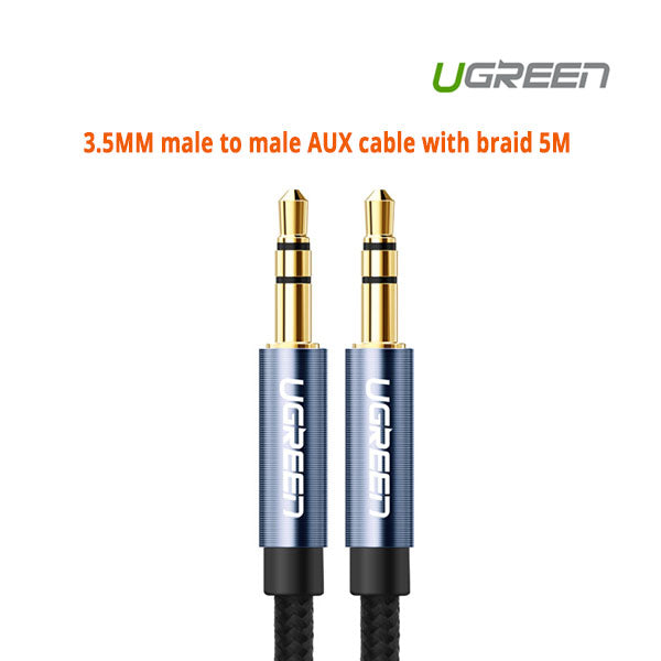 Ugreen 3.5MM male to male AUX cable with braid 5M 10689