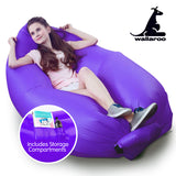 Wallaroo Inflatable Air Bed Lounge Sofa - Purple
