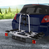Bicycle-Bike-Carrier-Rack--w/-Tow-Ball-Mount-Black-Silver-CAR-BK-CARRIER-EURO4