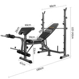 Multi-functional Fitness Bench Black