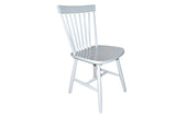 Simple Living Ari Rubberwood Grey Set of 2 Dining Chairs