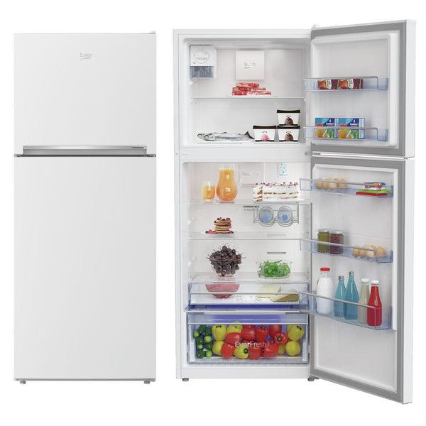 Beko 424L Platinum Top Mount Fridge BTM425W