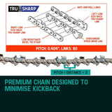 "Baumr-AG 24"" Tru-Sharp Chainsaw Chain For SX92"
