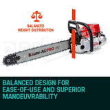 "Baumr-AG 24"" Easy Start 92cc Petrol Chainsaw - SX92"