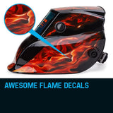 ROSSI Flame Design Welding Helmet Mask