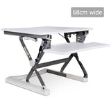 Height Adjustable Standing Desk 68CM - White