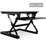 Height Adjustable Standing Desk 90CM - Black