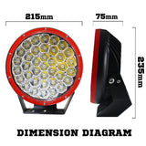 2X-9INCH-370W-CREE-LED-DRIVING-LIGHT-RED-V13-L909Z37R1*2